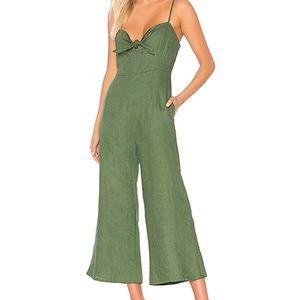 NWT Faithfull the Brand Green Jumpsuit